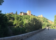 View up to Alhambra from our walk.