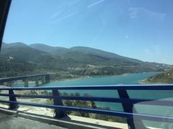The pretty drive from Granada to Malaga.