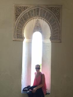 Mary at the Alcazabar.