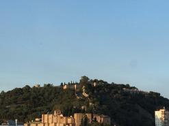 The Castillo de Gibralfaro from our hotel.