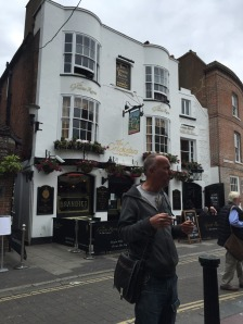 Our guide, Julian, at the Oldest Pub in Brighton.