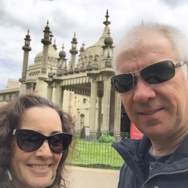 Us at the Brighton Pavilion.