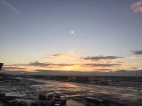 Frankfurt Airport: my first European sunrise!