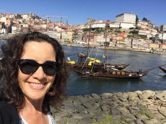 Walking along the Douro.