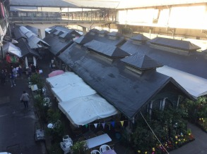 View over markets from upper deck.