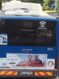 The buses here have free wi-fi!