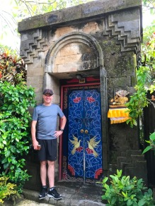 The entry door to our Villa