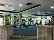 The gym at the hotel