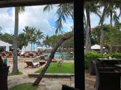 View from breakfast table at the hotel