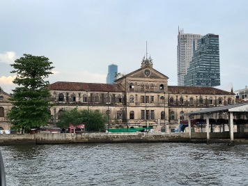 Grand old buildings lining the river