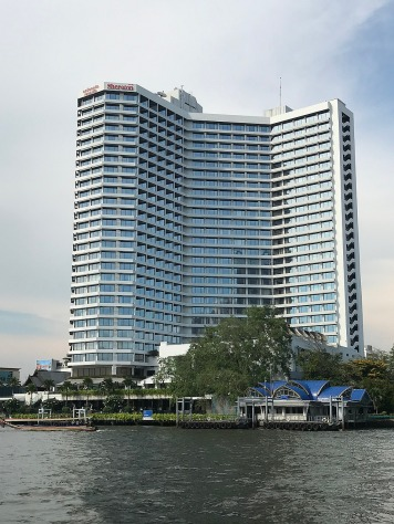Our hotel: viewed from the water