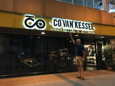The bike tour shop closed tonight