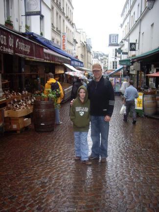 Rue Mouffetard, street markets were we dined well
