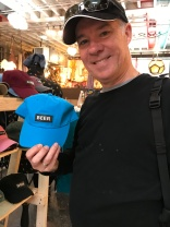 Artists & Fleas markets had an appropriate hat for Mark!