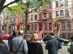 Expensive brownstones in Harlem.