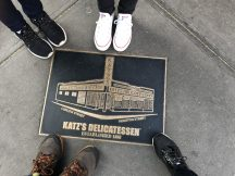 Outside Katz deli