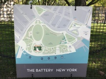 Map of the Battery Park area