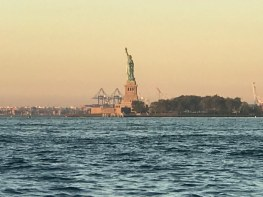 Beautiful morning view of the Satue of Liberty