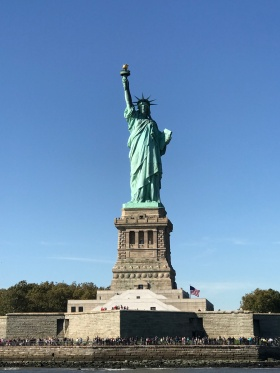 Close up at the Statue of Liberty