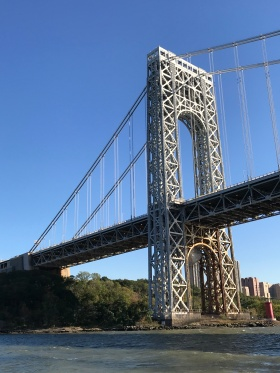 George Washington bridge linking Manhattan to Jersey