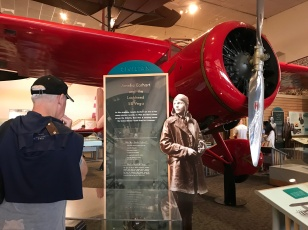 Mark checking out Amelia Earhart's plane