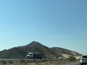 Lunar landscape on way fro Vegas to Santa Monica