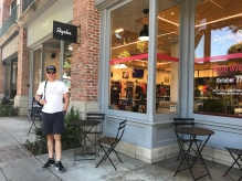 Mark happy to find Rapha so close to our hotel