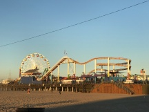 Morning view of the Santa Monica Pier