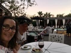 Us at poolside drinks