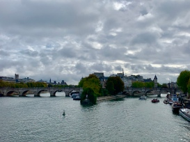 Looking back to the tip of Île de la Cité