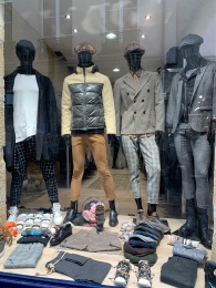 Interesting fashion for men in the Marais